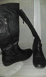 Bota preta cano longo