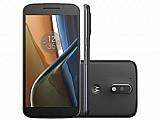 Smartphone motorola moto g 4� geracao 16gb preto - dual chip 4g cam. 13mp   selfie 5mp tela 5.5