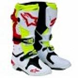 Bota alpinestars new tech 10 branco/vermelho/amarelo flúor (ventilado)