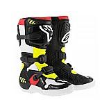 Bota alpinestars tech 6s. infantil preto/vermelho/amarelo