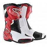 Bota alpinestars new smx-6 (novas cores) branco / vermelho