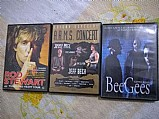Dvds rod stewart,  bee gees(documentario),  arms concert vol 2