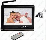 Baba eletrônica video lcd 7 com camera wireless visao noturna