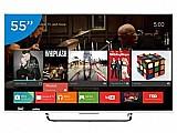 Smart tv led 4k ultra hd 3d 55