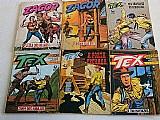 Lote com 24 quadrinhos tex faroeste