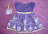 Vestido tematico princesa sofia 100% algodao