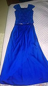 Vestido azul roupa para festa