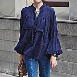 Blusa feminina azul marinho cod. 383