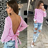 Blusa feminina rosa costas aberta cod. 398