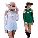 Blusa feminina branca ou verde cod. 421