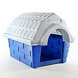 Casa clicknew com chamine - azul com marmore
