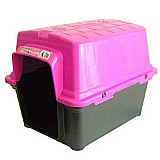 Casa furacao pet de plastico - rosa