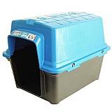 Casa furacao pet de plastico - azul