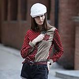 Camisa feminina bordo e cinza cod. 497