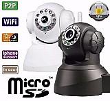 Camera ip sem fio mp wi-fi visao noturna micro   áudio
