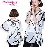 Blusa feminina estampada preto e branco cod. 732
