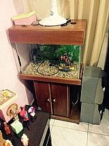 Aquario de peixe de vidro tamanho 70 x 50 x 40