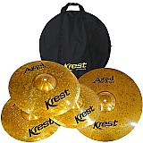 Kit pratos krest - aged brass - abset3 - 14   16   20   bag