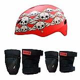 Kit de protecao capacete,  joelheira,  cotoveleira sandro dias