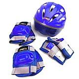Kit protecao pro capacete 7 pecas azul tam. g bel fix 6113