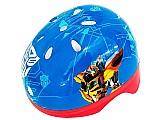Kit capacete infantil e protecao transformers hasbro