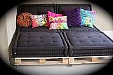 Futons turco sofa pallet ou banco de madeira