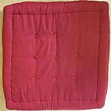 Almofada futon turco tok & stok 75x75x15 - vermelho