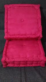 Futon com borda turca suede rosa cada
