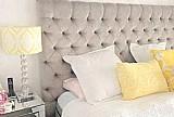 Cabeceira painel estofada para cama-box casal 1.40 x 80cm