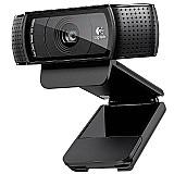 Webcam logitech c920 1080p com dual microfone integrado - preto