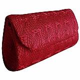 Bolsa carteira de mao clutch social festa renda vermelha azu