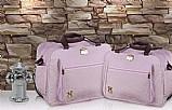 Kit bolsa maternidade rosa infant bolsa,  frasqueira mb