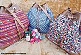 Bolsas feitas à mao,  totalmente artesanal