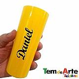 Adesivo em vinil nomes personalizados para eco-tupper copos canecas