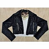 Jaqueta couro sintetico,  jaquetinha curta feminina, agasalho