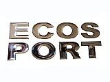 Kit emblema letreiro cromado resinado p/ capo ecosport 03/10