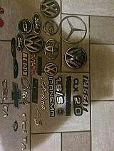 Emblemas de carros toyota, volwsvagen, ford, citroen, c3, c4, celta, chevrolet, hilday