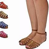 Sandalia feminina rasteira e rasteirinha gladiadora 1001