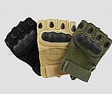 Luva tatica militar esportes airsoft meio dedo - microfibra