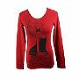 Red ice by iceberg graphic t-shirt das mulheres