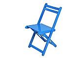 Cadeira dobravel de madeira – azul