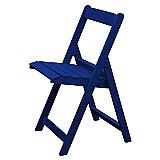 Cadeira de madeira dobravel azul - 0, 39 x 0, 46 x 0, 82m (cxlxh)