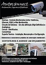 Circuito de cameras,  alarmes,  cercas eletrificadas,  concertinas,  portao eletrônico