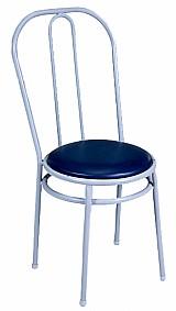 Cadeira para refeitorio com assento estofado