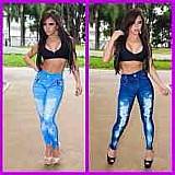Calca legging jeans feminina sublimada
