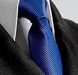 Gravata semi slim azul roya
