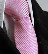 Gravata rosa semi slim com no
