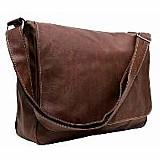 Bolsa-carteiro masculina couro sintetico marrom - tiracolo