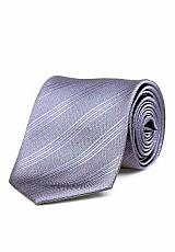 Gravata masculina pierre lafitte com nó pronto cinza - u