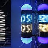 Letreiro luminoso de led redondo poste com efeitos de luz